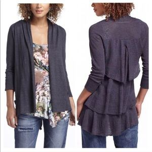 Anthropologie | Angel of the North Tiered Cardigan